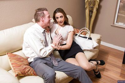 Splendid brunette wife Chanel gives her best and stucking blowjob