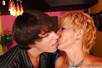 Filthy blonde mom has some hardcore fun with a younger lad