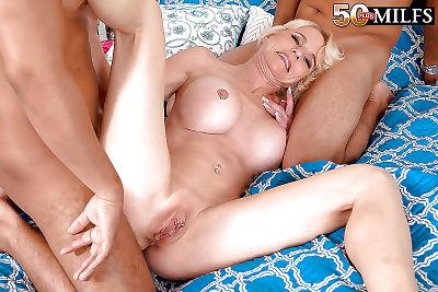 Tattooed mature blonde cammille austin taking cumshots after thr - part 16