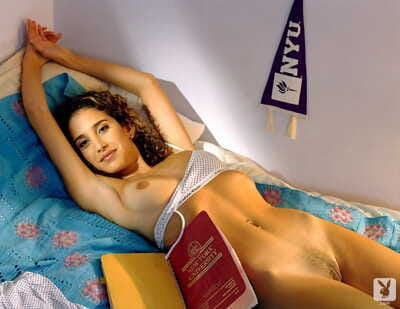 Hot & lusty college girls display their big tits & while studying for exams