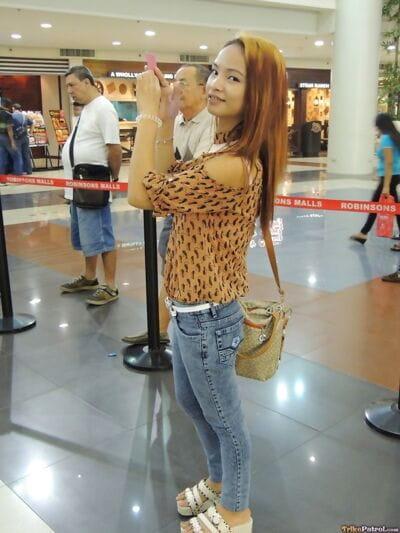 22 год старый Филиппинки Аюми взял вверх в В торговый центр и пиздец на камера для Наличными