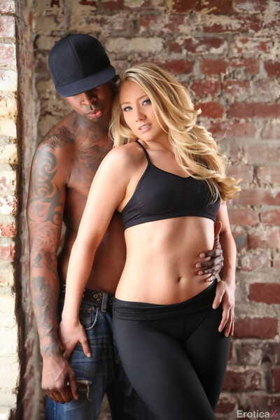Blonde MILF AJ Applegate is open to some interracial fucking