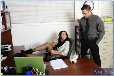 Busty slut Audrey Bitoni has some dirty fun with her office mate