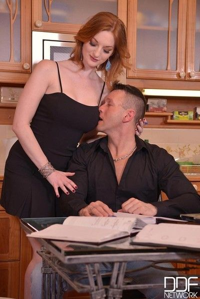 Redhead shares dick with a friend