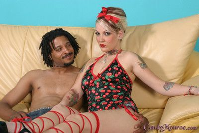 Candy monroe got a rasta cock in her nice hairless pussy