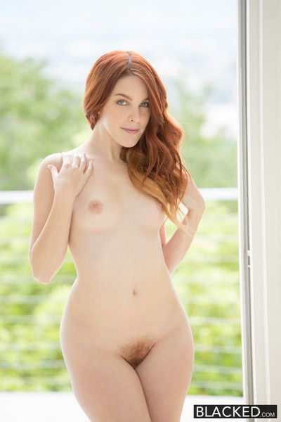 Red head model interracial creampie