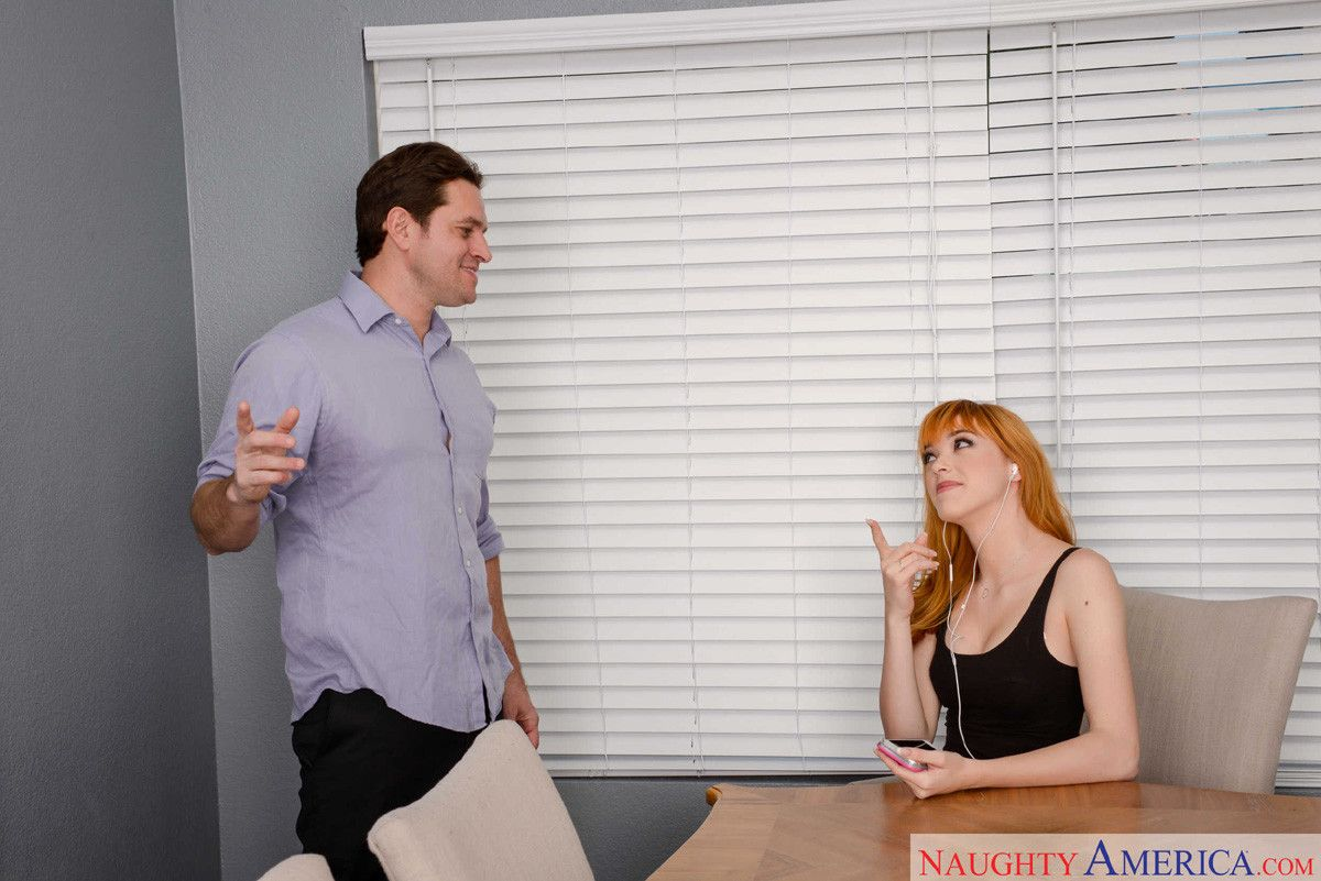 Anny aurora worships a throbbing cock in the dining room