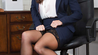 Secretary Abigail Mac strips down..