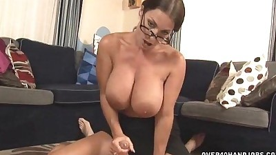 Hot Milf With Big Tits Handjob