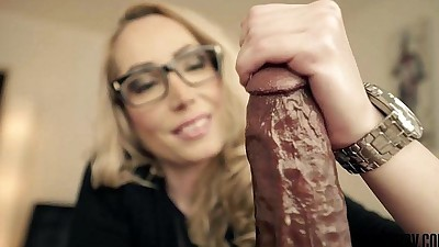 Candy MayPOV handjob with a big..