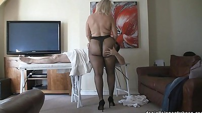 pantyhose massage big ass woman..