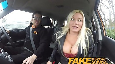 Fake Driving School squirting..