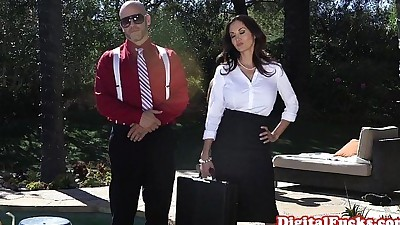 Elegant doggystyled milf gets it..