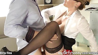 German MILF creampies and facial!HD