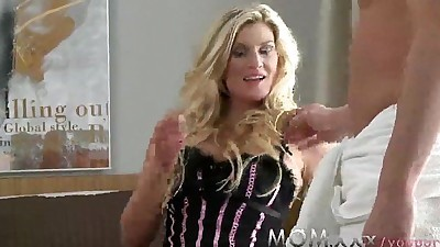 MOM Blonde Hairy MILF Loves Cock