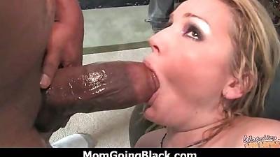 Hot milf fucks hard an huge black..
