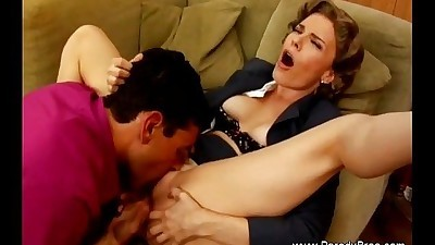 Horny MILF Ignores Business While..