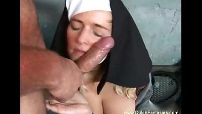 Blonde Dutch Nun Abused