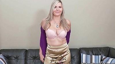 Blonde milf Velvet Skye drips her..