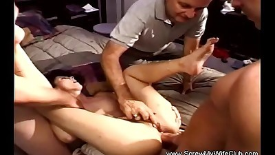 Anal 3some For Skinny Brunette MILF
