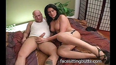 Horny MILF and a pair of baldheads