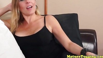 Bigtitted milf tugging on stepson..