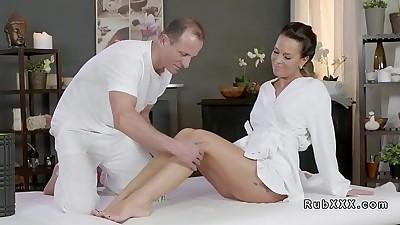 Beautiful ass Milf bangs her..