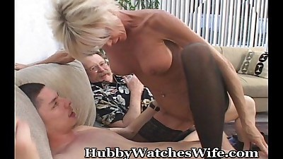 Mature Swinger Shared With Young..