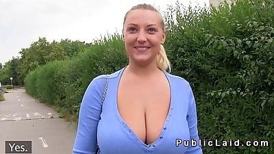 Natural big tits Czech babe fuck..
