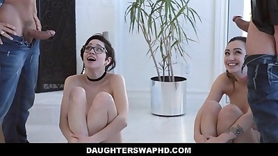 Two Dads Swap Fuck Daughters