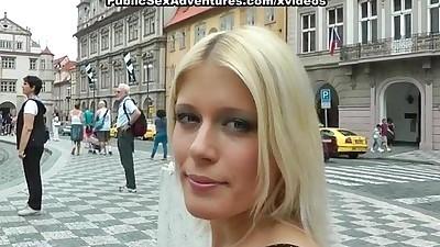Wild public sex with horny blonde..