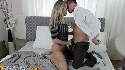 ORGASMS beautiful blonde with..
