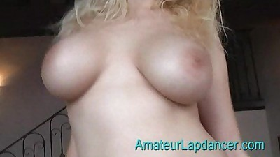 Blonde with huge tits does wild..