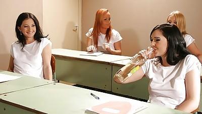 Nasty schoolgirls getting..