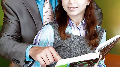 Glasses wearing teen schoolgirl..