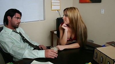 Office secretary August with huge..