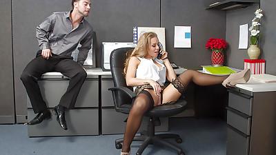 Glamorous secretary Nicole..