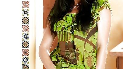 Stunning raven-haired babe India..