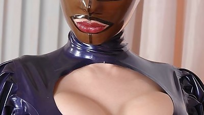Kinky BDSM fetish model Latex..