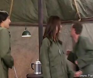 Sexy Army MILF Getting Attention..