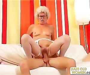 Hairy Granny With..