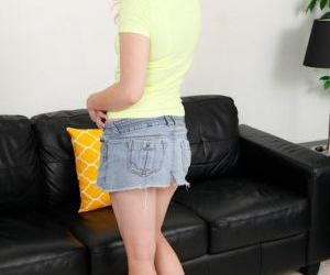 Pretty blonde princess Lila Rose posing her teen ass in..