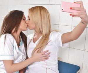 Beautiful lesbians Ivana Sugar & Subil Arch eat pussy on..