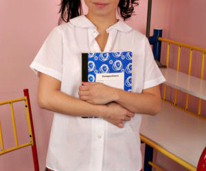 Asian first timer strips off schoolgirl uniform to reveal..