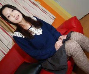 Close up undressing scene features Asian teen Yui Nakazato..