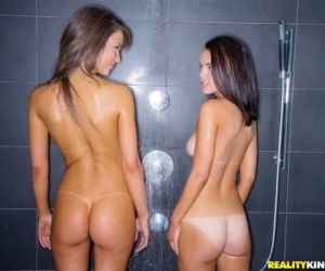 Lesbians Malena Morgan and Dillion Harper eat ass and..