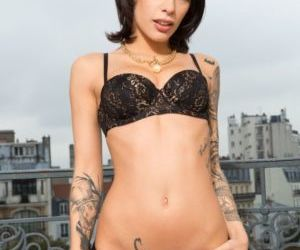 POV with Tattooed Nikita Bellucci sucking big cock and..