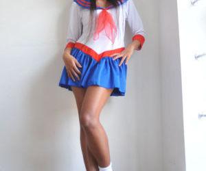 Long legged asian girl Ayumi Natsume stripping and..