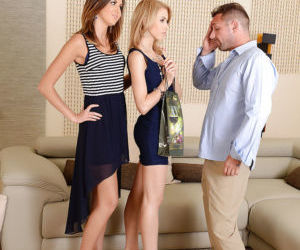 Euro girls Camila and Agness are open to groupsex and..