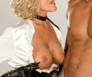 Hot older blonde Katia seduces a younger guy with her big..